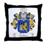 Fattori Family Crest Throw Pillow