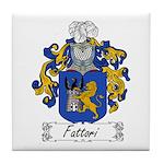 Fattori Family Crest Tile Coaster