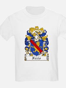 Fazio Family Crest Kids T-Shirt