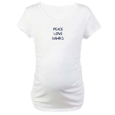 Peace, Love, Hawks Maternity T-Shirt