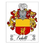 Fedelli Family Crest Small Poster