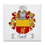 Fedelli Family Crest Tile Coaster
