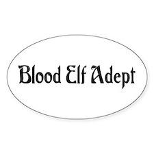 Blood Elf Adept Oval Decal