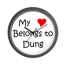 My heart belongs dario Wall Clock
