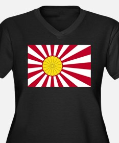 Japanese Flag And Inperial Seal Plus Size T-Shirt