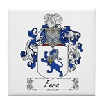 Fera Family Crest Tile Coaster
