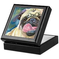 Cute Pug art Keepsake Box
