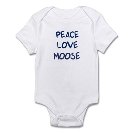 Peace, Love, Moose Infant Bodysuit