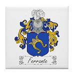 Ferrante Family Crest Tile Coaster