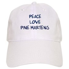 Peace, Love, Pine Martens Baseball Cap