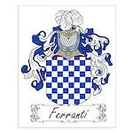 Ferranti Family Crest Small Poster