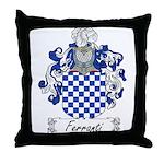 Ferranti Family Crest Throw Pillow