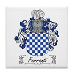 Ferranti Family Crest Tile Coaster