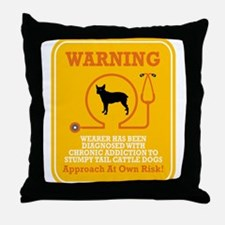 Stumpy Tail Cattle Dog Throw Pillow