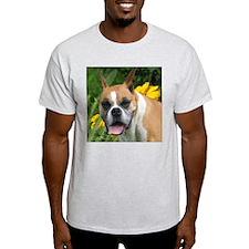 Boxer Portrait Ash Grey T-Shirt
