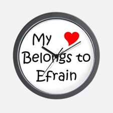 Unique Efrain Wall Clock