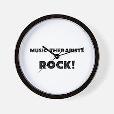 Music Therapists ROCK Wall Clock