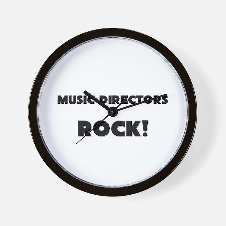 Music Directors ROCK Wall Clock