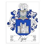 Figini Family Crest Small Poster