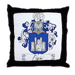 Figini Family Crest Throw Pillow