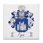 Figini Family Crest Tile Coaster