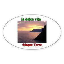 la dolce vita Cinque Terre Oval Decal