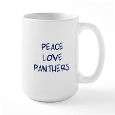 Peace, Love, Panthers Mug