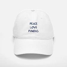 Peace, Love, Pandas Baseball Baseball Cap