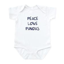 Peace, Love, Pandas Infant Bodysuit