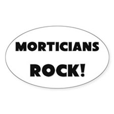 Morticians ROCK Oval Decal