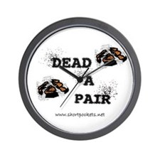 "ShortPockets ""Dead-A-Pair"" Wall Clock"
