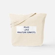 Peace, Love, Miniature Donkey Tote Bag