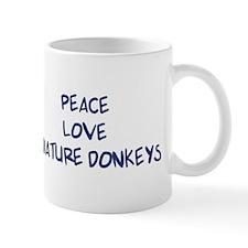 Peace, Love, Miniature Donkey Mug
