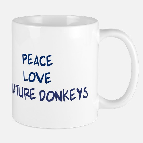 Peace, Love, Miniature Donkey Mug
