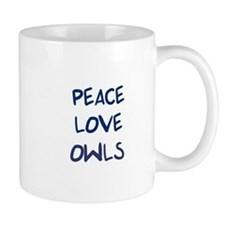 Peace, Love, Owls Mug