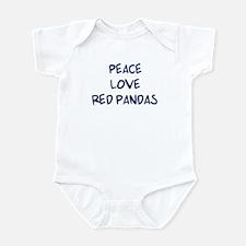Peace, Love, Red Pandas Infant Bodysuit