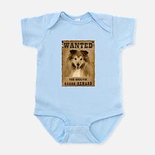 """Wanted"" Sheltie Infant Bodysuit"