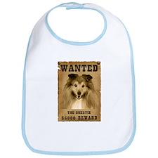 """Wanted"" Sheltie Bib"