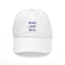 Peace, Love, Rats Baseball Cap