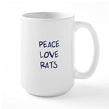 Peace, Love, Rats Mug