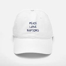 Peace, Love, Raptors Baseball Baseball Cap