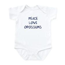Peace, Love, Opossums Infant Bodysuit