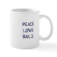 Peace, Love, Rails Mug