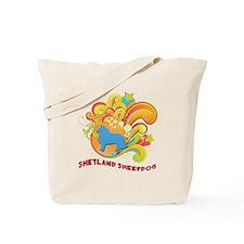 Groovy Shetland Sheepdog Tote Bag