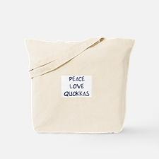 Peace, Love, Quokkas Tote Bag