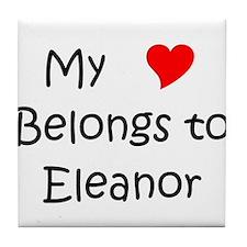 Name eleanor Tile Coaster