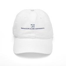 Peace, Love, Madagascar Hissi Baseball Cap
