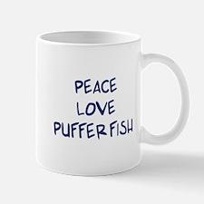 Peace, Love, Puffer Fish Mug