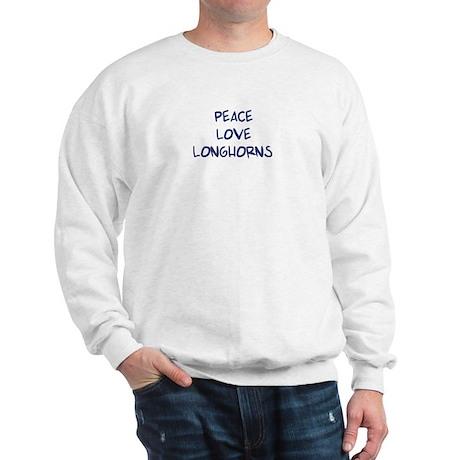 Peace, Love, Longhorns Sweatshirt