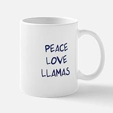 Peace, Love, Llamas Mug